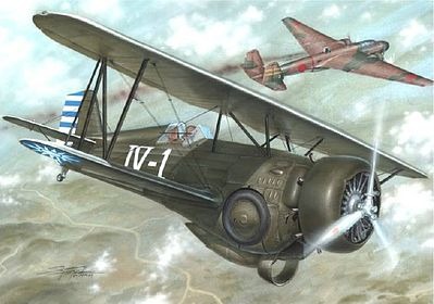 Special Hobby Hawk III Model 68 1st Chinese Ace BiPlane Fighter -- Plastic Model Airplane Kit -- 1/72 -- #72223