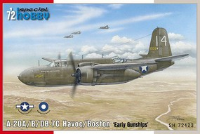 Special 1/72 A20A/B/DB7C Havoc/Boston Early Gunships Light Bomber