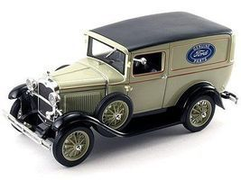 Sig 1931 Ford Model A Panel Truck (Tan) Diecast Model Truck 1/18 Scale #18137
