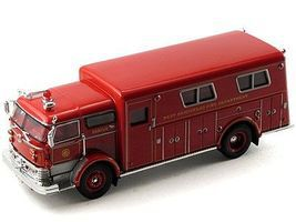 Sig 1960 Mack C Rescue Box Truck (Red) Diecast Model Truck 1/50 Scale #32425red