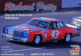 Salvinos 1/25 Richard Petty #43 Chevrolet Monte Carlo 1980 Nashville Winner Race Car
