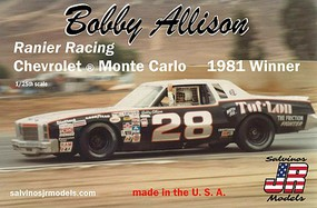 Salvinos Bobby Allison 1981 Monte Carlo Plastic Model Car 1/25 Scale #1981