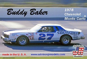 Salvinos Buddy Baker '78 Monte Carlo Plastic Model Car 1/25 Scale #27