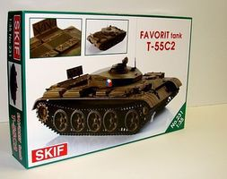 Skif T55C2 Favorit Czech Training Tank w/Photo-Etched Plastic Model Tank Kit 1/35 Scale #231