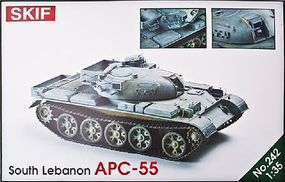 Skif APC55 South Lebanon Army Armored Carrier Plastic Model Military Tank Kit 1/35 #242