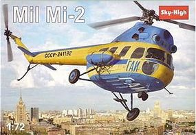 Skyhigh Mil Mi2 Soviet Helicopter Plastic Model Helicopter Kit 1/72 Scale #7226