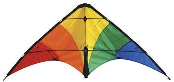 Skydog Kites Learn To Fly Rainbow Sport 48 -- Multi-Line Kite -- #20400