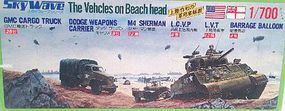 Skywave 1/700 WWII Vehicles on Beach Head (Re-Issue)