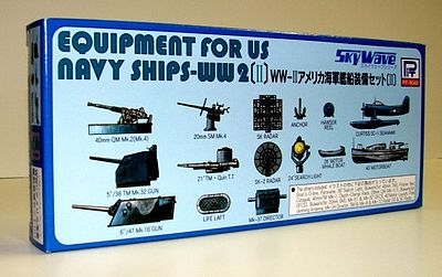 Skywave Models Equipment Set for US WWII Navy Ships (II) -- Plastic Model Ship Accessory -- 1/700 Scale -- #e9