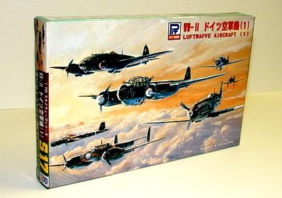 Skywave Models WWII German Aircraft Set -- Plastic Model Airplane Kit -- 1/700 Scale -- #s17