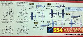 Skywave WWII USN Aircraft Set #3 Plastic Model Airplane Kit 1/700 Scale #s24