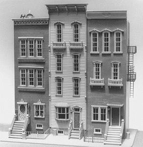 Scale Structures NY Brownstone Super Kit - HO-Scale