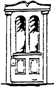 Scale Structures HO Colonial Ornate Door (Metal Casting) (2)