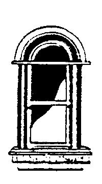 Scale Structures HO Curved Arched Short 3-Lite Window (Metal Casting) (3)