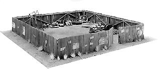 Scale Structures Corrgtd iron fnc w/gate - HO-Scale