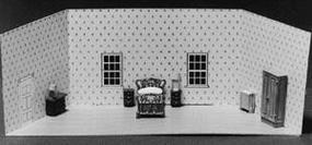 Scale-Structures Guest Bedroom w/Walls (Unpainted Metal Castings) HO Scale Model Railroad #7220