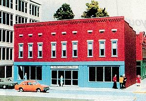Smalltown U.S.A. Rusty's Graphic Arts Talltown Building Kit -- HO Scale Model Railroad Building -- #6028