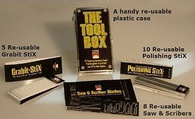 Scale-Motor The Tool Box (5 Grabit Stix, 10 Polishing Stix, 8 Saw & Scribers)