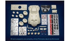 Scale-Motor Ba Ba Bank Race Car Resin Builders Kit Plastic Model Vehicle Kit 1/12 Scale #31233