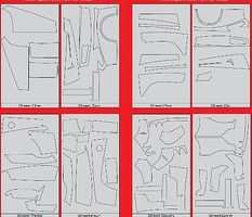 Scale-Motor Enzo Ferrari Template Comp. Fiber Twill Weave Decal For TAM Vehicle Accessory 1/12 #7085