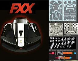 Scale-Motor Ferrari FXX Carbon Fiber Super Detail Kit TAM Plastic Model Vehicle Accessory 1/24 #8010