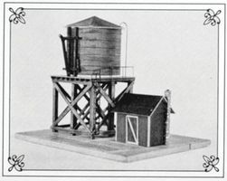 Suncoast Water Tower Pump House Kit HO Scale Model Railroad Building #3010