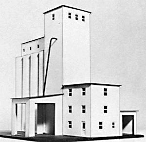 Suncoast Models Concrete Grain Elevator Wood Kit -- HO Scale Model Building -- #3060