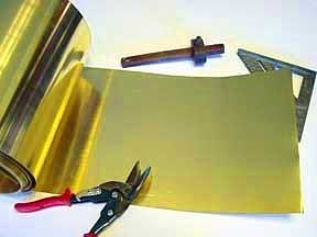 St-Louis 36 Gauge Brass Tooling Foil (.005 thick, 12 wide, 3 Roll)