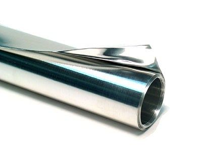 St. Louis Crafts 36 Gauge Aluminum Tooling Foil (.005'' thick, 12'' wide, 3' Roll)