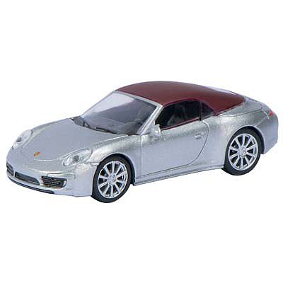 SCHUCO 1/87 Porsche 911 S Softop Silver w/Red Top