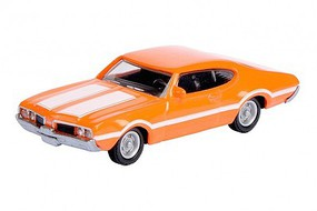 SCHUCO HO 1969 Oldsmobile 442 Coupe Car (Orange w/White Stripes)
