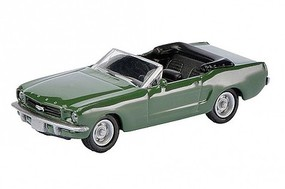 SCHUCO HO 1964-1/2 Ford Mustang Convertible Car (Green w/Black Interior)