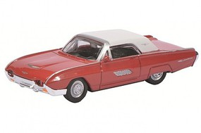 SCHUCO HO 1963 Ford Thunderbird (Red w/White Roof)