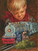 Sunsout Imagination Lionel Train & Boy 500pcs Jigsaw Puzzle 0-599 Piece #20961
