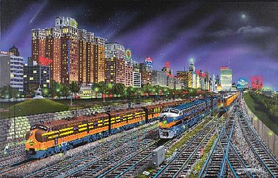Sunsout Chicago Nights (F7 Locos) 1000pcs -- Jigsaw Puzzle 600-1000 Piece -- #21385