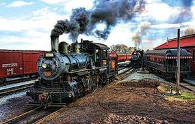 Sunsout At the Trainyard/Steam Loco 1000pcs Jigsaw Puzzle 600-1000 Piece #31206