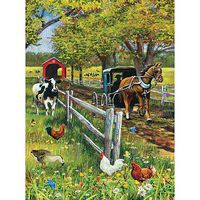 Sunsout Horse And Buggy 1000pcs Jigsaw Puzzle 600-1000 Piece #37161