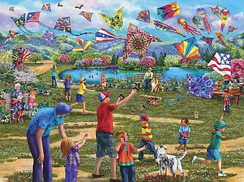 Sunsout Kites In The Park 1000pcs -- Jigsaw Puzzle 600-1000 Piece -- #58299