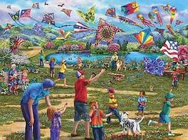 Sunsout Kites In The Park 1000pcs Jigsaw Puzzle 600-1000 Piece #58299