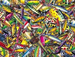 Sunsout My Favorite Lures Collage 500pcs Jigsaw Puzzle 0-599 Piece #58633