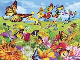 Sunsout Butter Flutter 500pcs Jigsaw Puzzle 0-599 Piece #68836