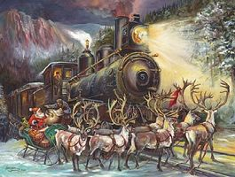 Sunsout Santa with Sleigh asking Loco Directions Christmas 500pcs Jigsaw Puzzle 0-599 Piece #76010