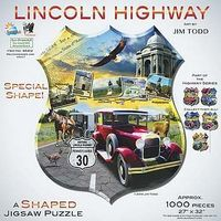 Sunsout Lincoln Highway 1000pcs Shaped Jigsaw Puzzle 600-1000 Piece #95812