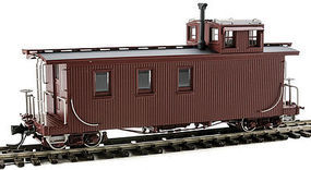 SoundTraxx Long Caboose D&RGW Painted, Unlettered HOn3 Scale Model Train Freight Car #340960