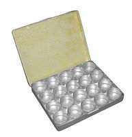 Squadron Metal Bindi Boxes 20 Metal Jars in Metal Box