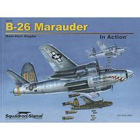 Squadron B-26 Marauder In Action (Softcover) Authentic Scale Model Airplane Book #10210