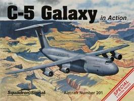 Squadron C-5 Galaxy In Action Authentic Scale Model Airplane Book #1201