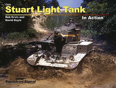 Squadron Stuart Light Tank In Action (Paperback) Authentic Scale Tank Vehicle Book #12055