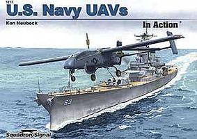 Squadron US Navy UAVs In Action Authentic Scale Model Airplane Book #1217