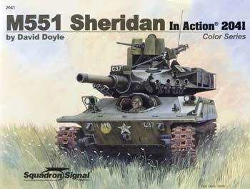 M551 Sheridan Color In Action Authentic Scale Tank Vehicle Book #2041